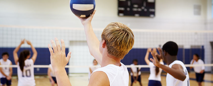 Playing volleyball essay